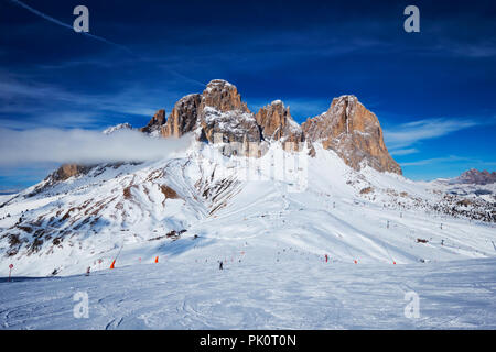 Ski resort in Dolomites, Italy - Stock Photo