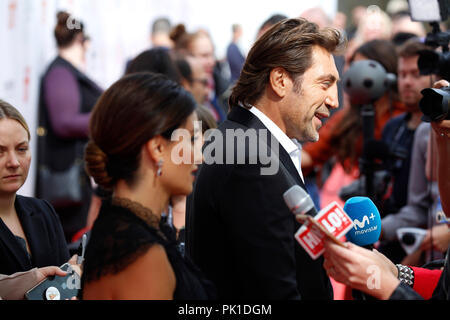 Penelope Cruz and Javier Bardem attending the premiere of 'Everybody Knows' during the 2018 Toronto International Film Festival on September 8, 2018 in Toronto, Canada. - Stock Photo