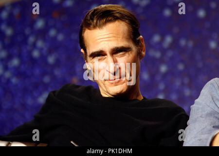 Joaquin Phoenix at 'The Sisters Brothers' Press Conference during 2018 Toronto International Film Festival at TIFF Bell Lightbox on September 8, 2018 in Toronto, Canada. - Stock Photo