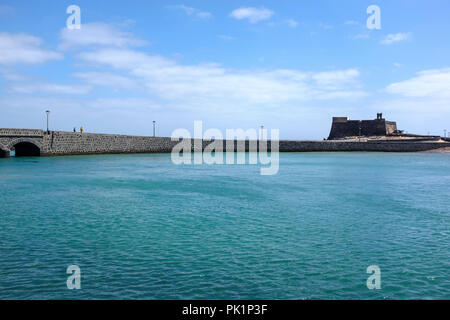 Castillo de San Gabriel, Arrecife, Lanzarote, Spain. - Stock Photo