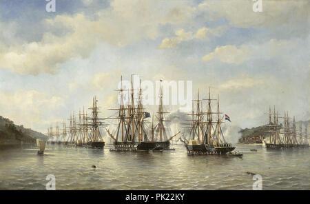 Heemskerk Van Beest  Jacob Eduard Van - Dutch  English  French and American Squadrons in Japanese Waters 1864 - Stock Photo