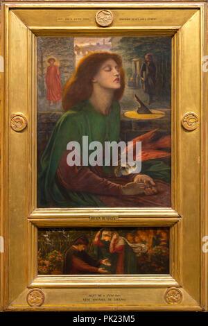Beata Beatrix, Dante Gabriel Rossetti, 1871-1872, Art Institute of Chicago, Chicago, Illinois, USA, North America, - Stock Photo