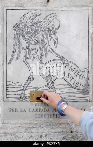 Italy, Lazio, Rome, Centro Storico, Via Giulia, church detail, Santa Maria dell'Orazione e Morte. - Stock Photo
