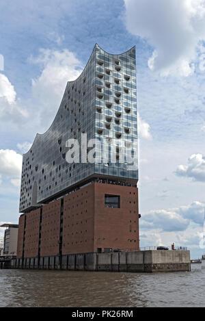The Elbphilharmonie building in the port of Hamburg, germany. - Stock Photo