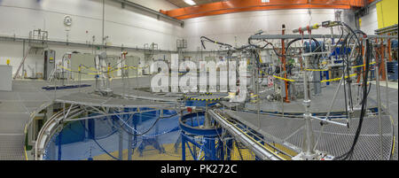 Braunschweig, Lower Saxona, Germany, August 8., 2018: Measuring hall of the PTB particle accelerator - Stock Photo