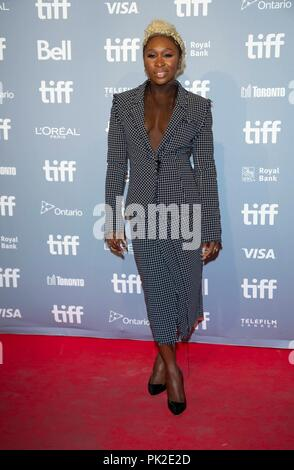 Cynthia Erivo attends the press conference of 'Widows' during the 43rd Toronto International Film Festival, tiff, at Bell Lightbox in Toronto, Canada, on 09 September 2018. | usage worldwide - Stock Photo