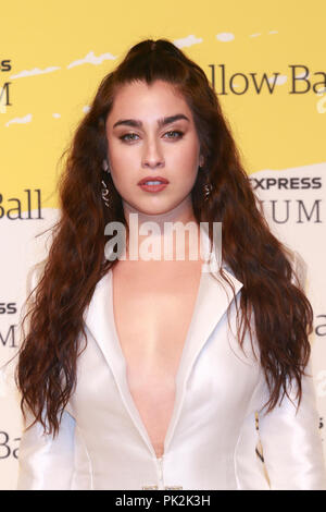 Brooklyn, NY, USA. 10th Sep, 2018. Lauren Jauregui at The Yellow Ball at The Brooklyn Museum in New York City on September 10, 2018. Credit: Diego Corredor/Media Punch/Alamy Live News - Stock Photo
