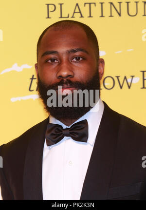 Brooklyn, NY, USA. 10th Sep, 2018. Darrelle Revis at The Yellow Ball at The Brooklyn Museum in New York City on September 10, 2018. Credit: Diego Corredor/Media Punch/Alamy Live News - Stock Photo
