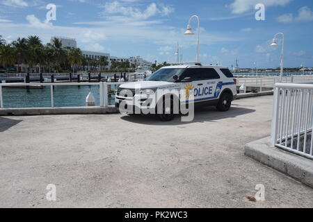 Police car in the Key West - Stock Photo