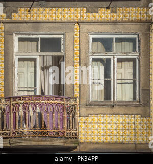 Porto is the second-largest city in Portugal after Lisbon and one of the major urban areas of the Iberian Peninsula. - Stock Photo