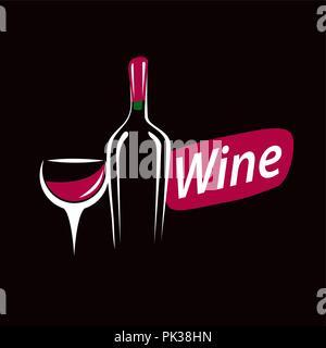 vector logo wine - Stock Photo