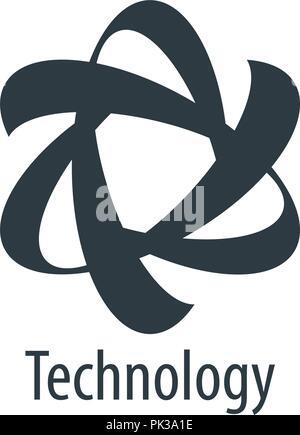 vector logo technology - Stock Photo