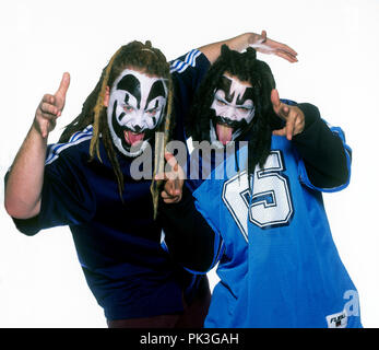 Insane Clown Posse (l-r): Violent J, Shaggy 2 Dope on 01.11.1997 in Hamburg. | usage worldwide - Stock Photo