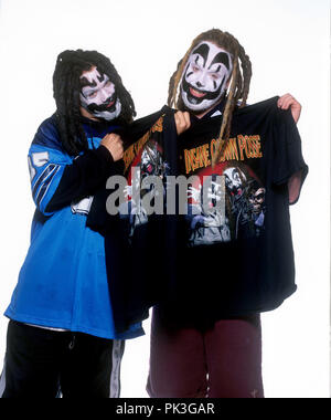 Insane Clown Posse (l-r): Shaggy 2 Dope, Violent J on 01.11.1997 in Hamburg. | usage worldwide - Stock Photo