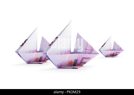 ship from banknotes - Stock Photo