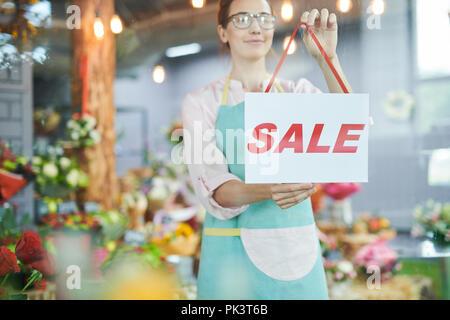 Florist Hanging SALE Sign - Stock Photo