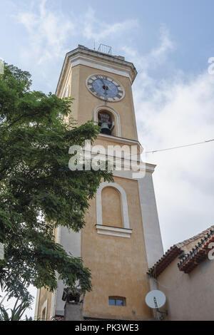 Francia Nizza Eze Città medievale campanile - Stock Photo