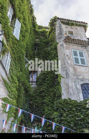 Francia Nizza Eze Città medievale facciata di palazzo - Stock Photo