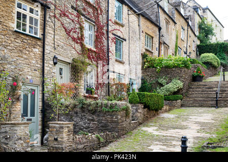 The Chipping steps, Tetbury, Cotswolds, Gloucestershire, England - Stock Photo