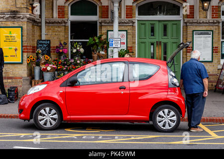 A Car Parked In A Disabled Bay, Lewes, East Sussex, UK - Stock Photo