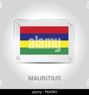 Mauritius flag design vector - Stock Photo