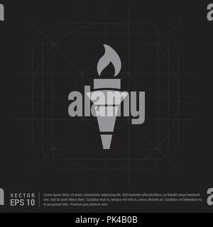 Olympic Torch Icon - Black Creative Background - Free vector icon - Stock Photo