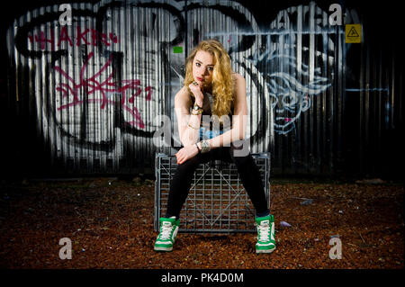 Ian Georgeson 07921 567360 Edinburgh born Actress Freya Mavor has landed a lead role in the new series of Skins. - Stock Photo