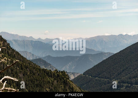 National Park Aiguestortes in Pyrenees Mountains, Catalonia, Spain. - Stock Photo