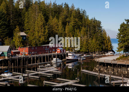 Rundgang durch das idyllische Telegraph Cove - Stock Photo