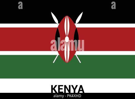 Kenya flag design vector - Stock Photo