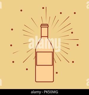 wine bottle isolated icon vector illustration design - Stock Photo