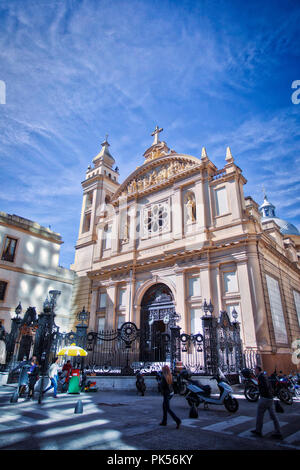 Santa Merced church on Buenos Aires, Argentina - Stock Photo