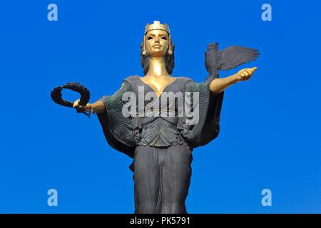 Statue of Saint Sofia (Sveta Sofia) in Sofia, Bulgaria - Stock Photo
