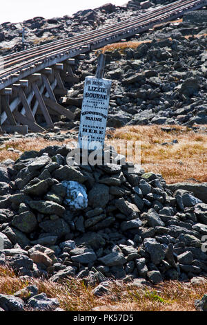 New Hampshire, Mount Washington Cog Railway, Bretton Woods, White Mountain National Forest, Mount Washington, - Stock Photo