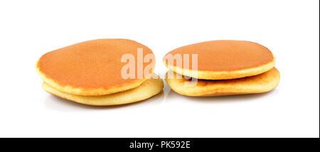 japanese pancakes on white background.Dorayaki - Stock Photo