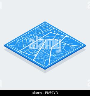 Isometric Bitcoin sign with computer chip. Color icon. - Stock Photo