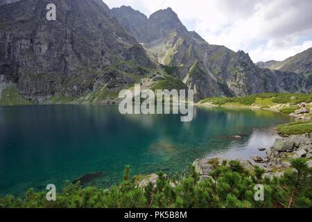 czarny staw pod rysami near Morskie Oko, High Tatra Poland - Stock Photo