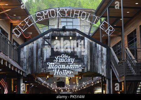 Ole Smoky Holler Gatlinburg Tn - Stock Photo