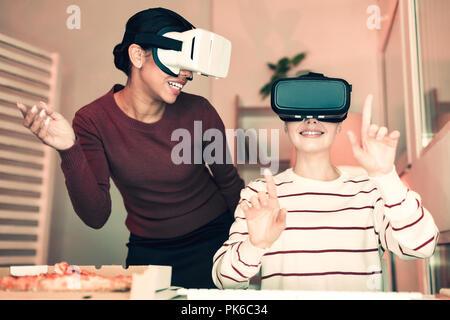 Online virtual reality games, new digital technology virtual