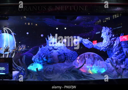 Holiday window display at MACY'S in NYC on December 12, 2014. - Stock Photo