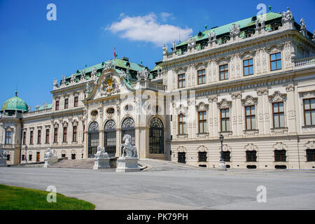 Belvedere as amazing historic building complex in Vienna, Austria. - Stock Photo