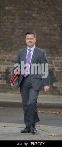 Downing Street, London, UK. 11 September 2018. James Brokenshire, Secretary of State for Housing, Communities and Local Government arrives in Downing Street for weekly cabinet meeting. Credit: Malcolm Park/Alamy Live News. - Stock Photo