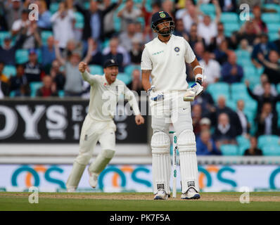 Kia Oval, London, UK. 11th Sep, 2018. Specsavers International Test Match Cricket, 5th test, day 5; Credit: Action Plus Sports/Alamy Live News - Stock Photo