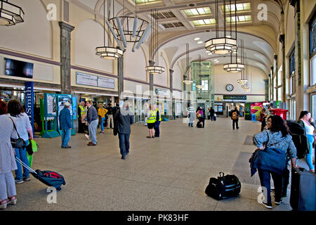 Cardiff Central Railway Station, Cardiff, Wales, UK - Stock Photo