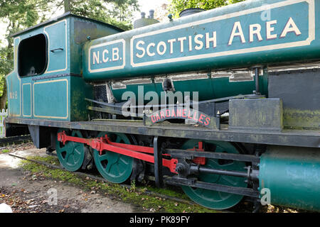 The former NCB locomotive, the 1175 Dardanelles now on display in Polkemmet country park, near Whitburn, West Lothian. - Stock Photo
