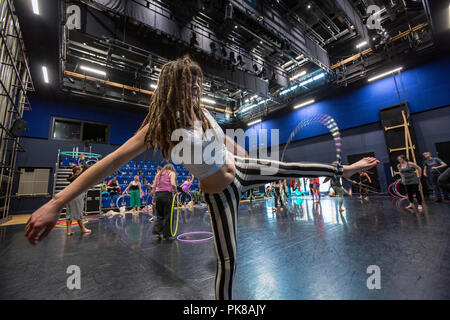 Cardiff, UK. March 2018. Various shots from the Welsh Hoop Convention held annually at the National Dance Company for Wales. - Stock Photo