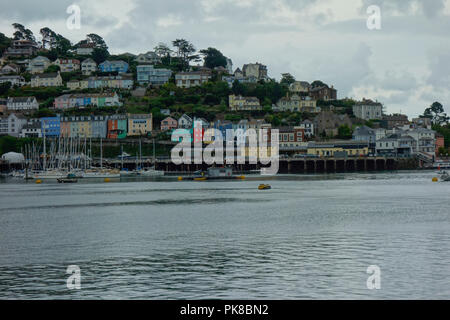 Boats on the river at Dartmouth, Devon, UK - Stock Photo