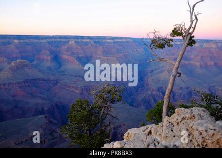 Grand Canyon at South Rim, Grand Canyon National Park, UNESCO World Heritage Site, Arizona, USA. - Stock Photo