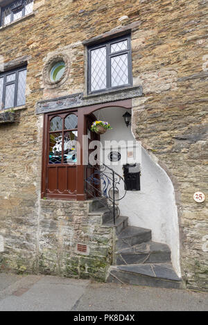 Former Post House private residential property, Fowey, South Cornwall, England, UK - Stock Photo