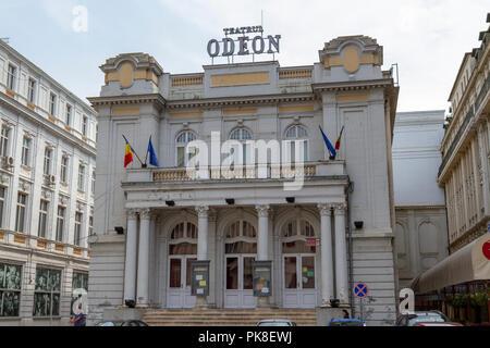 The Odeon Theatre (Teatrul Odeon) in Bucharest, Romania. - Stock Photo